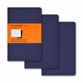 Moleskine Ruled Cahier Journal - Navy Blue Pocket Set of 3