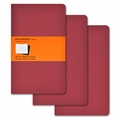 Moleskine Ruled Cahier Journal - Red Large Set of 3