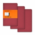 Moleskine Ruled Cahier Journal - Red Pocket Set of 3