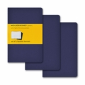 Moleskine Squared Cahier Journal - Navy Blue Pocket Set of 3