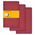 Moleskine Squared Cahier Journal - Red Large Set of 3
