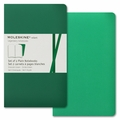 Moleskine Volant Plain Notebook Large Emerald Green