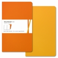 Moleskine Volant Plain Notebook Large Orange Yellow