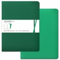 Moleskine Volant Plain Notebook X Large Emerald Green