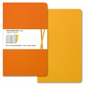 Moleskine Volant Ruled Notebook Large Orange Yellow
