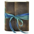Mykonos One of a Kind Ribbon Tied Leather Journal