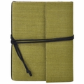 Narayani Handmade Paper Wrap Journal Green