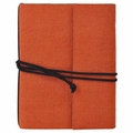 Narayani Handmade Paper Wrap Journal Orange