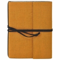 Narayani Handmade Paper Wrap Journal Yellow