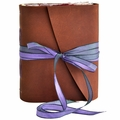 One of a Kind Plum Blossom Leather Journal