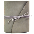 One of a Kind Velvet Ribbon Leather Journal