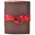 One of a Kind Winterberry Leather Journal