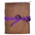 Orchid Bloom Handmade Leather Journal