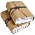 Rainbow Leather Journal with Artist Papers