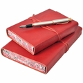 Roma Lussa Italian Leather Journal - Red