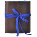 Sapphire Leather Journal with Artist Papers