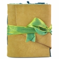 Seaglass Leather Journal with Artist Papers