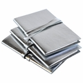 Ziggy Junior Silver Metallic Leather Pocket Journal