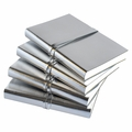 Ziggy Stardust Silver Metallic Leather Journal
