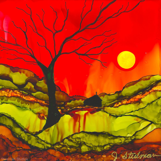 Jun 4 - Intro to Alcohol Inks with Jane Steelman
