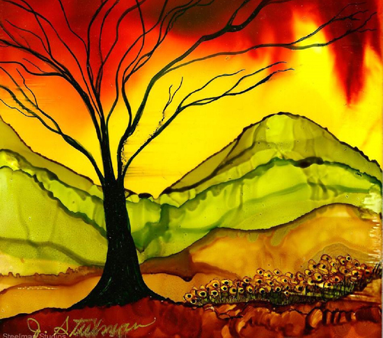 Mar 5 - Intro to Alcohol Inks with Jane Steelman