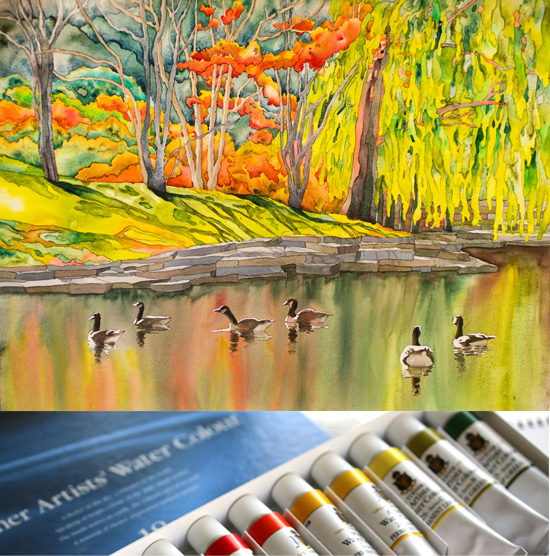 Saturday, Jan 14th - Turner Watercolor with NEW Instructor Suzanne Hetzel!
