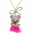 BETSEY JOHNSON Bear Tutu Necklace