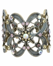 BETSEY JOHNSON Blue Hinged Filigree Cuff