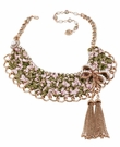 BETSEY JOHNSON Bow Pink Green Collar Necklace
