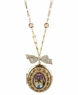 BETSEY JOHNSON Cameo Locket Necklace