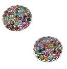 BETSEY JOHNSON Circle Rhinestone Studs