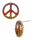 BETSEY JOHNSON Colored Peace Studs