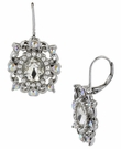 BETSEY JOHNSON Crystal Flower Drop Earrings