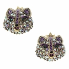 BETSEY JOHNSON Crystal Fox Studs