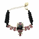 BETSEY JOHNSON Crystal Owl Bracelet