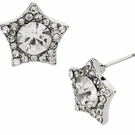BETSEY JOHNSON Crystal Star Stud Earrings