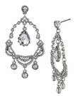 BETSEY JOHNSON Crystal Teardrop Chandelier Earrings