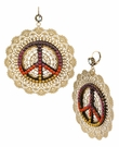 BETSEY JOHNSON Filigree Peace Drop Earrings