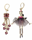 BETSEY JOHNSON Fox Mis Match Earrings
