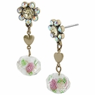 BETSEY JOHNSON Girlie Grunge Flower Multi Earring