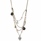 BETSEY JOHNSON Girlie Grunge Multi Row Illusion Necklace