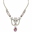 BETSEY JOHNSON Girlie Grunge Skull Necklace
