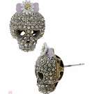 BETSEY JOHNSON Girlie Grunge Skull Stud Earrings