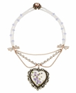 BETSEY JOHNSON Heart Purple Pendant