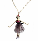 BETSEY JOHNSON Long Fox Pendant