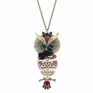 BETSEY JOHNSON Long Owl Pendant