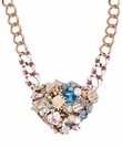 BETSEY JOHNSON Multi Charm Large Heart Necklace