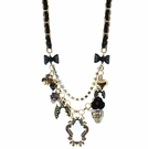 BETSEY JOHNSON Multi Charm Mirror Necklace