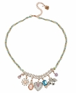 BETSEY JOHNSON Multi Heart Charm Necklace