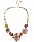 BETSEY JOHNSON Multi Stone Gold Necklace